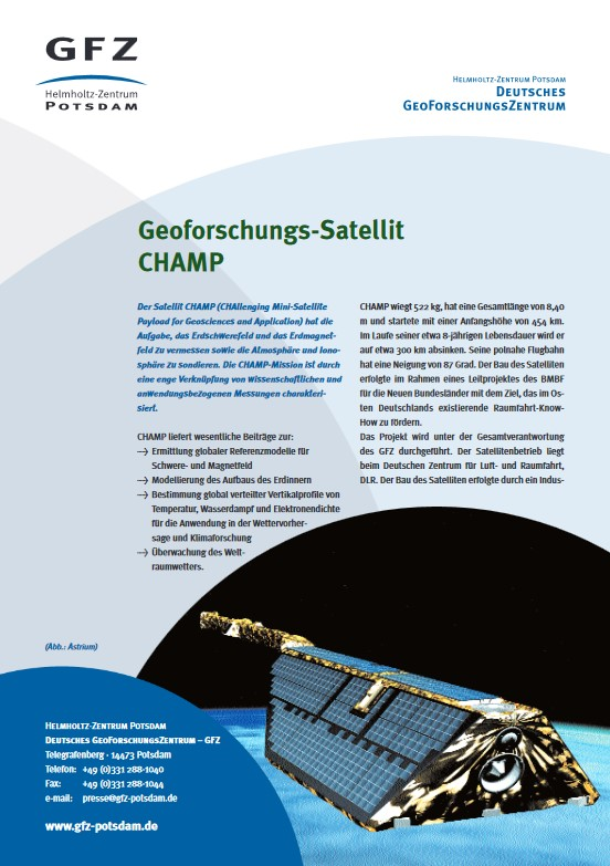 thumbnail Geoforschungs-Satellit CHAMP