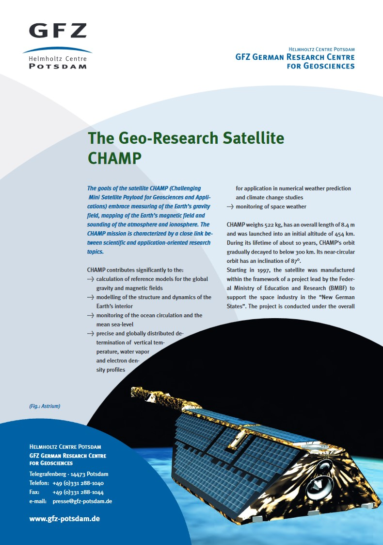 thumbnail The Geo-Research Satellite CHAMP