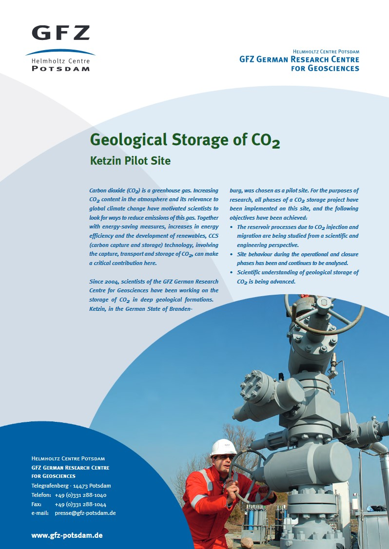 thumbnail Geological Storage of CO2 Ketzin Pilot Site