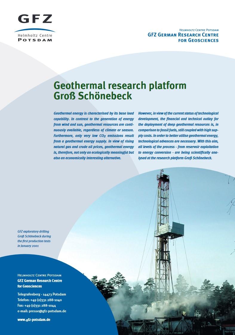 thumbnail Geothermal research platform Groß Schönebeck