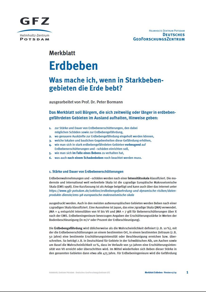 thumbnail Merkblatt Erdbeben