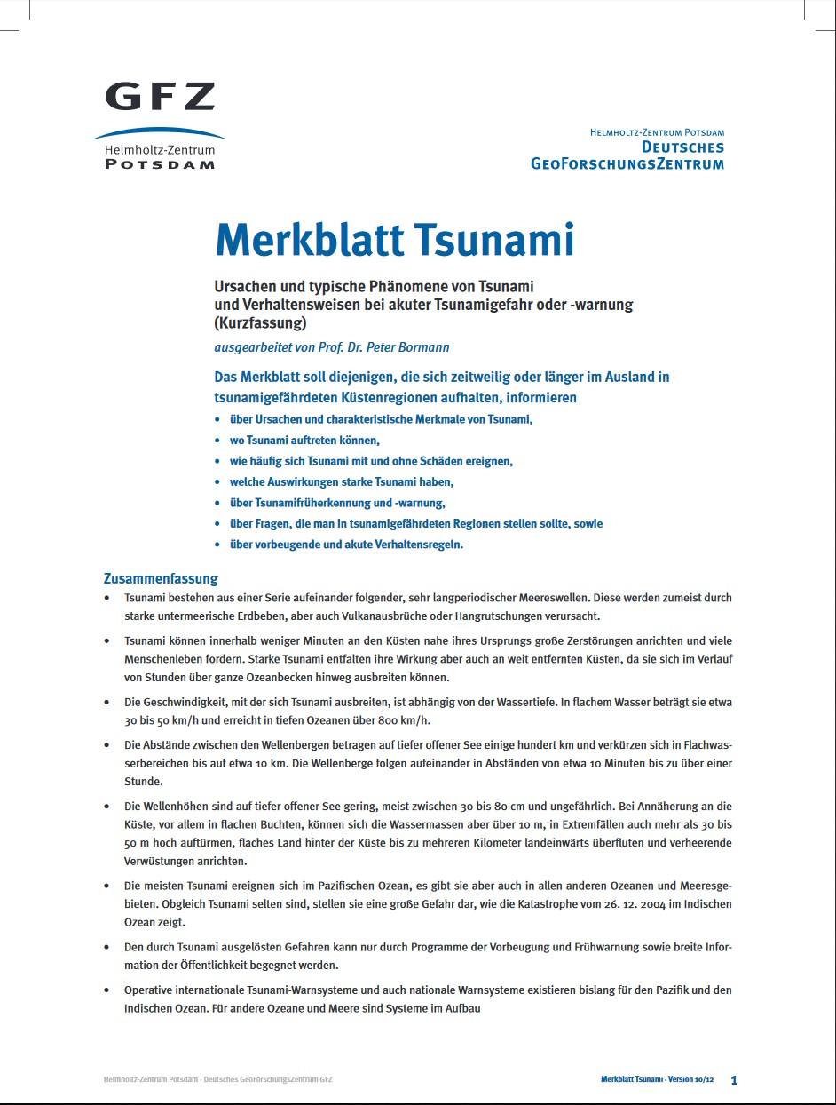 thumbnail Merkblatt Tsunami
